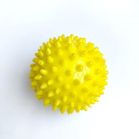 THE PAWXI Rubber Dog Spike ball, Dog Teething Toy (Size-2.75 Inch, Color-Yellow)