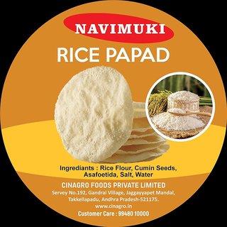 1kg Rice plain papad Navimuki