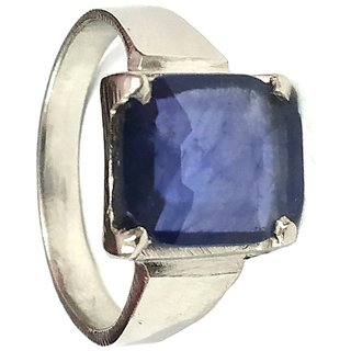 Jewelswonder (6 Carat) Blue Sapphire Neelam Adjustable Ring for Men and Women (LAB CERTIFIED)
