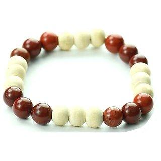Jewelswonder Pure Red Jasper Tulsi Bracelet For Men and Women (Lab Certified)