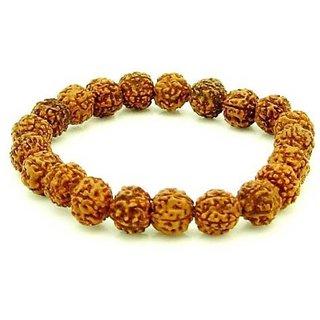 Jewelswonder Wood Rudraksha Bracelet For Health and Wealth (Lab Certified)