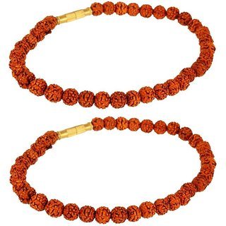Jewelswonder Stylish Rudraksha Bracelet For Men & Women (Lab Certified) (Pack of 2)
