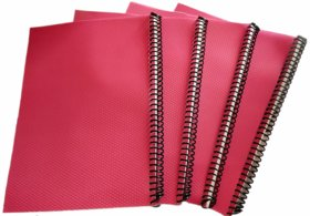 DIVIK A4 SPIRAL NOTEBOOK 70 GSM UNRULED 200 PAGES ( PACK OF 4 )