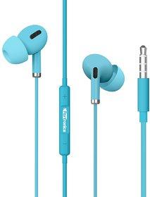 Portronics Conch Delta POR-1169 In the Ear Wired Earphone (Blue)
