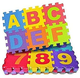 36Pcs Mini Puzzle Foam Mat For Kids Interlocking Learning Alphabet (A-Z) And Number (0-9) Mat For Kids 2Ft X 2Ft Size
