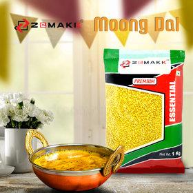 ZeMaKK Premium Moong Dal Yellow  Split -1 kg Pack