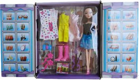 Annie Jolly Girl  Doll with 2 Extra Dress  Shoe Pair  Accessories  Guitar  More