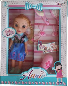 Annie Pretty Girl 10 Inches Pretty Doll with Big Head and Eyes, Make Up Accessories