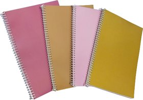DIVIK A4 SPIRAL NOTEBOOK 70 GSM UNRULED 400 PAGES (PACK OF 4 EACH CONTAINS 100 PAGES)