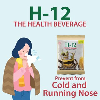 H-12 Cough and Cold Care Herbal Tea Relieves Coughing, Sneezing, Fever, Sour Throats - 60 Cups