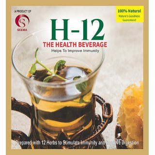 H-12 Kadha Mix Immunity Booster Herbal Extracts Tea for Cough  Cold Remedy - (100 Sachets x 4g)