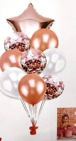 Blooms Mall Party fun Foil Balloon ( pack  of 9)
