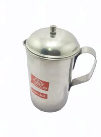 Handmade 0.500ltr Steel Water Jug Pitcher with Stainless Steel