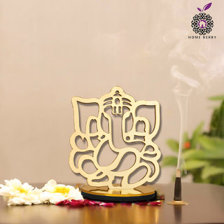 Home Berry Ganesh Arts Lord Ganesha Idol for Temple, Home, Table Showpieces Statue Pack of 1 (Acrylic Design)