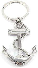 Premium stainless anchor silver keychain