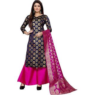 BLANCORA Women's Brocade Self Design Unstitched Salwar Suit Dress Material
