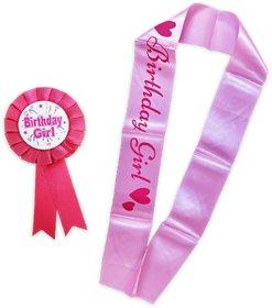 Blooms Mall Princess Combo  Birthday  Girl sash + Birthday Girl brooch ,BM/R20/707