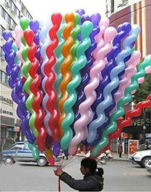Blooms Mall Spiral Latex Balloon ( Pack of 51).BM/R20/710