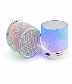 Mini Bluetooth Speaker with Disco Lights -( Color Per Availability)