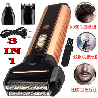 Professional Cordless 3 In 1 Electric Nose Trimmer Hair Clipper Electric Razor Grooming kits For Men And Woman