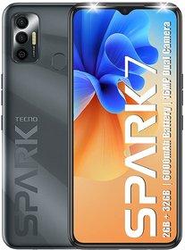 Tecno Spark 7 (Magnet Black, 2GB RAM, 32 GB Storage) - 6000mAh Battery16 MP Dual Camera 6.52 Dot Notch Display