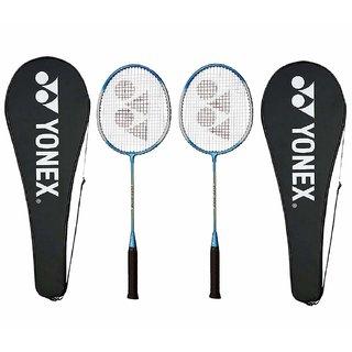 Yonex GR 303 Aluminium Blend Badminton Racquet with Full Cover (Blue), Pack of 2PC