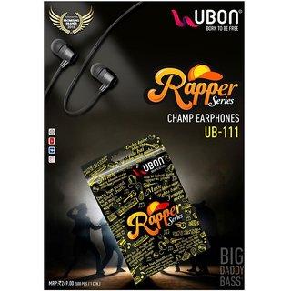 UBON RAPPER SERIES UB 111 CHAMP BIG DADDY BASS 3.5MM JACK EARPHONE Wired Headset  ASSORTED COLOR  Headphones   Earphones