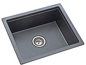 KSG21SB BLK Ingle Bowl Sink, Silver, Metallic Finish