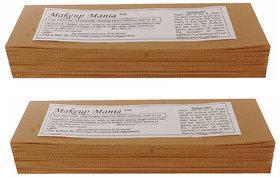 Makeup Mania 140 Pcs Large Waxing Strips, Non-Woven Hair Removal Plain Waxing Strips - Beige 140 Pcs