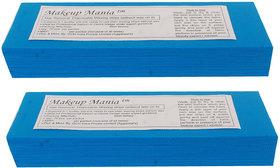 Makeup Mania 140 Pcs Large Waxing Strips, Non-Woven Hair Removal Plain Waxing Strips - Blue 140 Pcs
