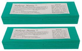 Makeup Mania 140 Pcs Large Waxing Strips, Non-Woven Hair Removal Plain Waxing Strips - Green 140 Pcs