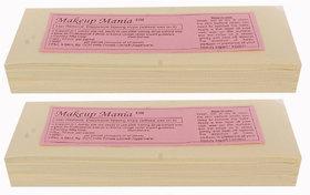 Makeup Mania 140 Pcs Large Waxing Strips, Non-Woven Hair Removal Plain Waxing Strips - Ivory 140 Pcs
