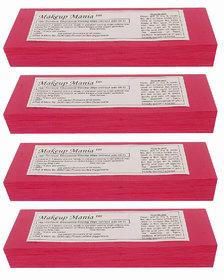 Makeup Mania 280 Pcs Large Waxing Strips, Non-Woven Hair Removal Plain Waxing Strips - Magenta 280 Pcs