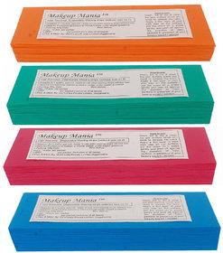 Makeup Mania 280 Pcs Large Waxing Strips, Non-Woven Hair Removal Plain Waxing Strips - Multi Color 280 Pcs