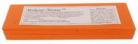 Makeup Mania 070 Pcs Large Waxing Strips, Non-Woven Hair Removal Plain Waxing Strips - Orange 70 Pcs