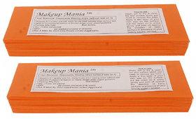 Makeup Mania 140 Pcs Large Waxing Strips, Non-Woven Hair Removal Plain Waxing Strips - Orange 140 Pcs
