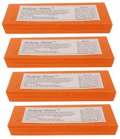 Makeup Mania 280 Pcs Large Waxing Strips, Non-Woven Hair Removal Plain Waxing Strips - Orange 280 Pcs