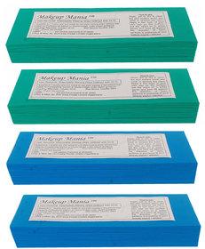 Makeup Mania 280 Pcs Large Waxing Strips, Non-Woven Hair Removal Plain Waxing Strips - Blue-Green