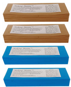 Makeup Mania 280 Pcs Large Waxing Strips, Non-Woven Hair Removal Plain Waxing Strips - Brown-Blue