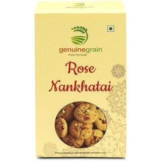 Rose Nankhatai Cookies