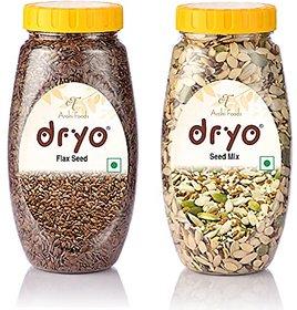 Dryo Combo Raw Flax Seeds 280G & Mix Seeds 250G