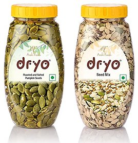 Dryo Combo Of Salted Pumpkin Seeds 230G & Seed Mix 250G