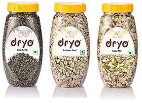 Dryo Combo Of Chia Seeds 290G & Sunflower Seeds 230G & Seed Mix 250G