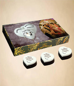 Anniversary Chocolate Gift Box With Blur-Berry Flavour