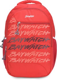 Baywatch 40 Litre Unisex Casual Polyester Laptop Backpack (Red)