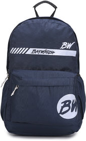 Baywatch 21 Litre Unisex Casual Polyester Laptop Backpack (Navy Blue)