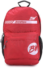 Baywatch 21 Litre Unisex Casual Polyester Laptop Backpack (Red)