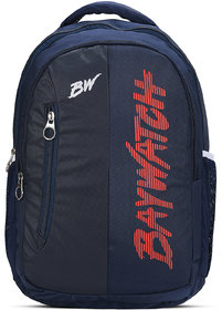 Baywatch BP03 40 Litre Unisex Casual Polyester Backpack (Blue Black)