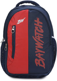 Baywatch BP03 40 Litre Unisex Casual Polyester Backpack (Blue Red)