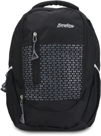 Baywatch BP04 35 Litre Unisex Casual Polyester Laptop Backpack - Grey (Black)